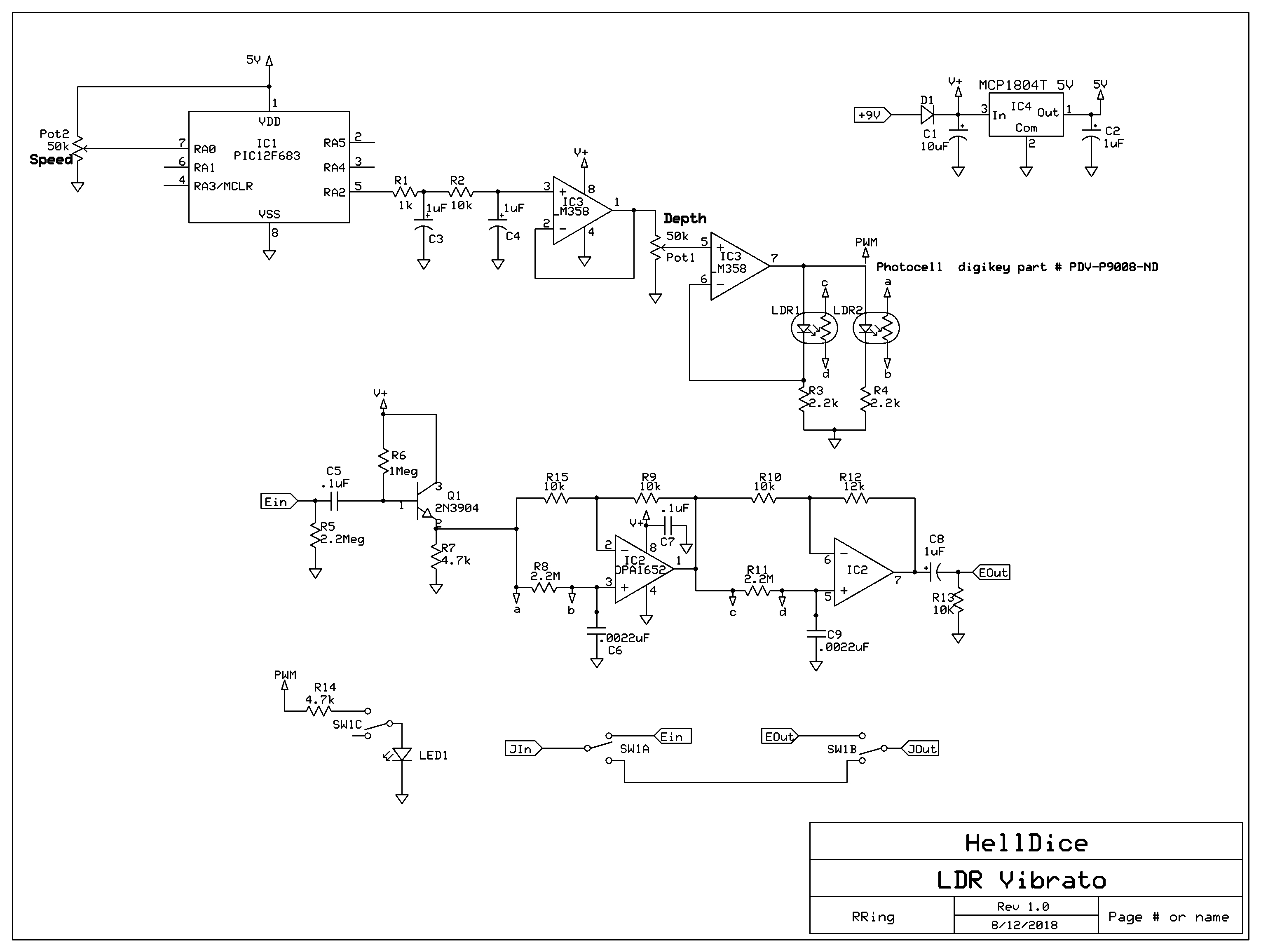 Pt2399 Circuit Salad Echo Effect With Ic Schematic Hell Dice Vibrato