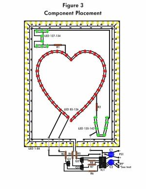LED Flashing Heart  Circuit Schematic