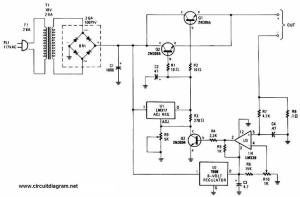 Adjustable Regulated Battery Charger  Circuit Schematic