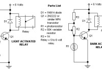 light dark activated relay circuit electronic
