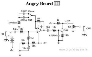 Angry Beard III Electric Guitar Effect  Circuit Schematic