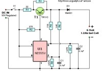 6V Gel Cell Battery Charger Circuit Diagram