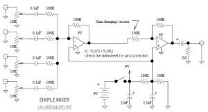 simple mixer circuit diagram
