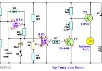 lantern and flasher circuit