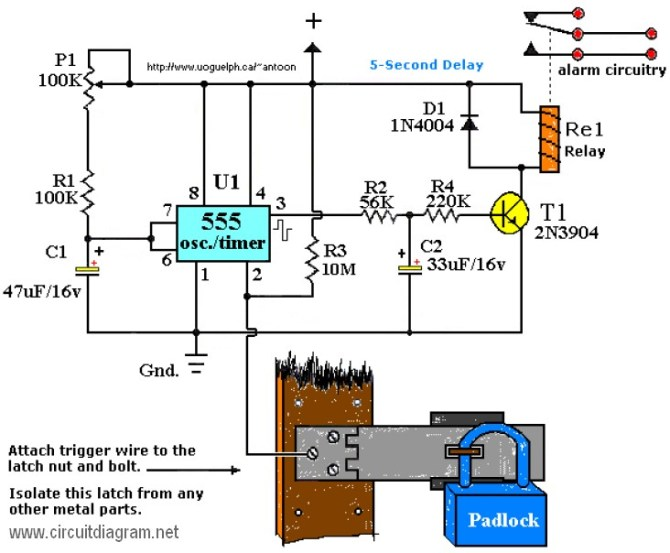 car touch alarm circuit diagram  circuit diagram symbols •