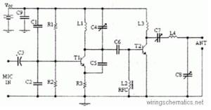 4 Watts FM Transmitter  Circuit Schematic