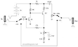 Vox Tone Bender Pedal circuit diagram