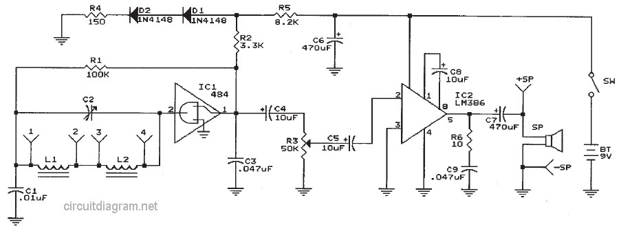 Two Chips AM Radio Receiver