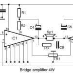 4W Bridge Amplifier using LM388