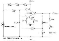 Thermocouple Amplifier Circuit with CA3193