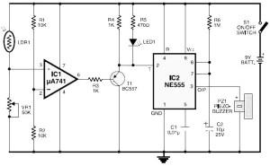 light fence circuit diagram