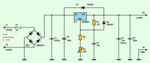 Variable  Adjustable DC Power Supply 12V  25V using
