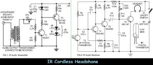 Infrared (IR) Cordless Headphone  Circuit Schematic