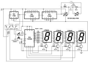 electronic stopwatch circuit design