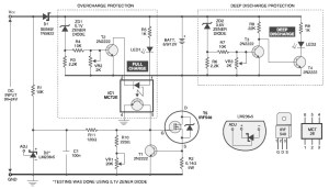 6V  9V  12V Battery Charger with ConstantCurrent Charging  Circuit Schematic