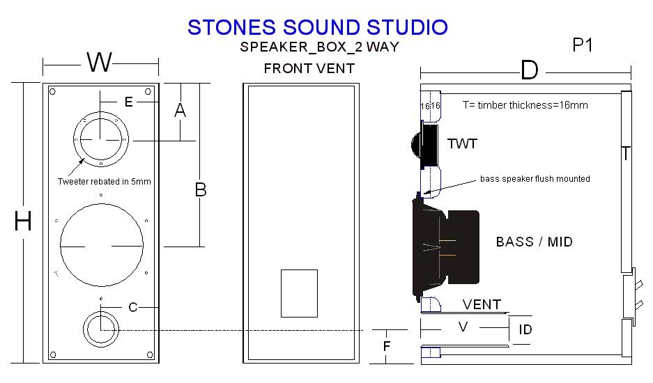 2 way speaker box design circuit schematic. Black Bedroom Furniture Sets. Home Design Ideas