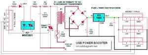 USB Power Booster Circuit Diagram