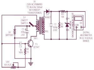 Diode Zener Tester  Circuit Schematic