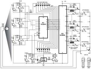 DIY Electronic Cardlock Security System  Circuit Schematic