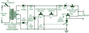 Triac SCR Transistor Tester Circuit Design