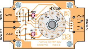 USB Printer Switch PCB Design