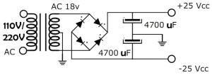 Power Supply for 300W RMS Stereo Power Amplifier