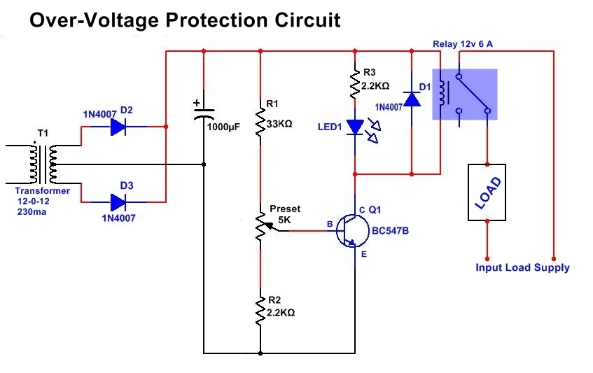Simple Overvoltage Protection Circuit Diagram, High