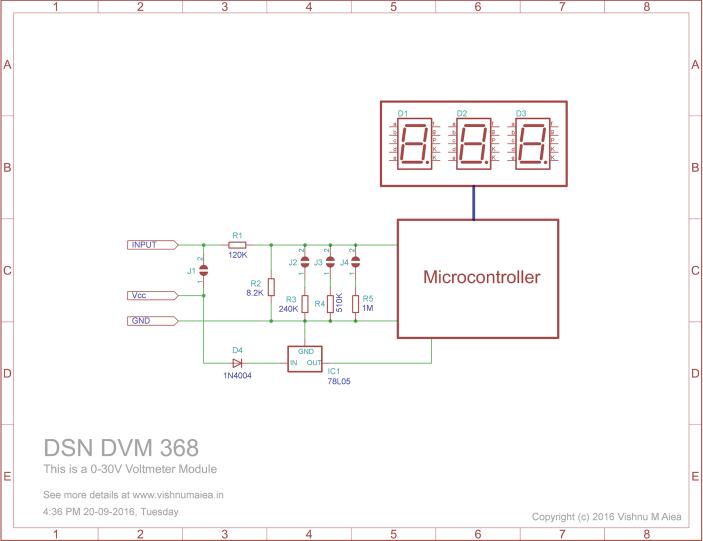 DSN-DVM-368 Voltmeter module schematic