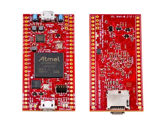 Starcat-Jupiter-Nano-ATSAMA5-Microprocessor-Development-Board-PCB-Top-Bottom-2