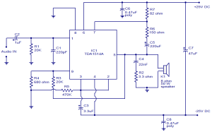 40W amplifier using TDA1514  Electronic Circuits and