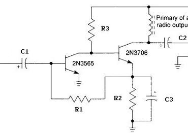 headphone audio amplifier based two transistors