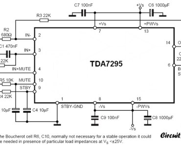 80w audio amplifier circuit using TDA7295
