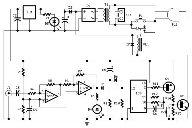 amplifier timer auto off timer circuit