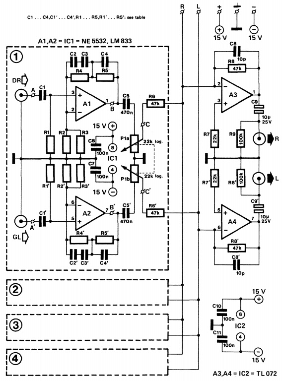 disco audio mixer circuit