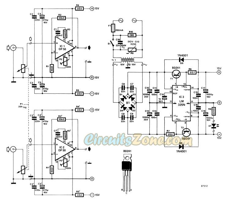 headphone amplifier circuit based IC op-50
