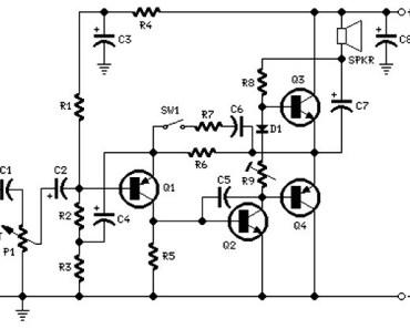2 watt amplifier circuit