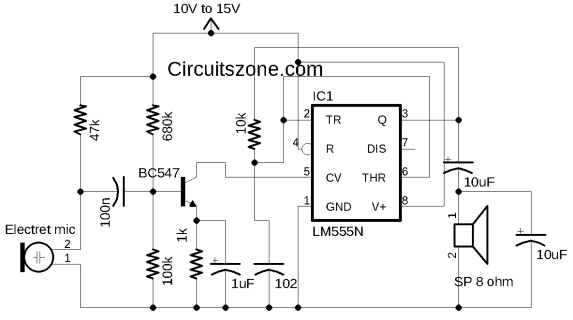 555 amplifier circuit