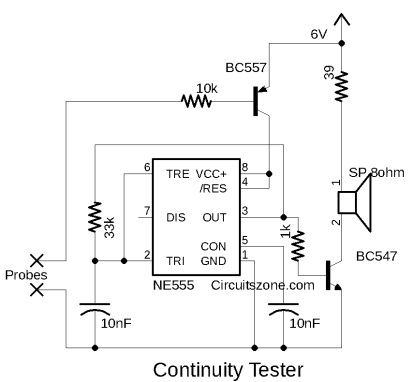 continuity tester circuit