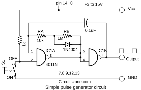 simple pulse generator using cmos