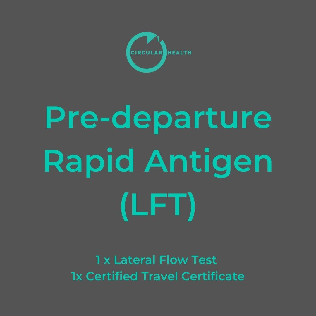 Pre-departure Rapid Antigen LFT Test Circular1 Health