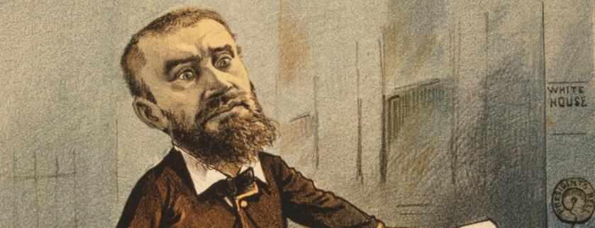 A cartoon of Guiteau the assassin.