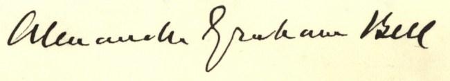 signature of Alexander Graham Bell