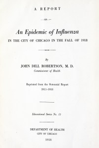 Title page ofDr. Robinson's Report.