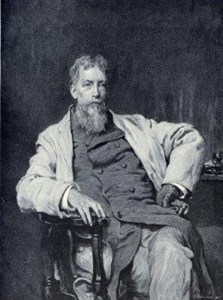 Engraved portrait of Silas Weir Mitchell showing him seated.