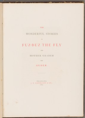 Title Page of The Wonderful Stories of Fuz-buz the Fly.