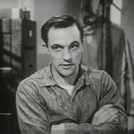 Gene Kelly as Seaman Bob Lucas expresses doubt.