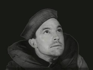 Gene Kelly as Seaman Bob Lucas wearing a life vest and sailor hat gazes upward.