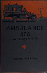 Book cover illustrated with an ambulance.