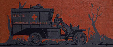 Book cover illustration of an ambulance.