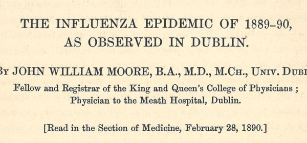 Detail of the title page of Dr. Moore's Journal article.